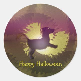 Happy Halloween Dog Round Sticker