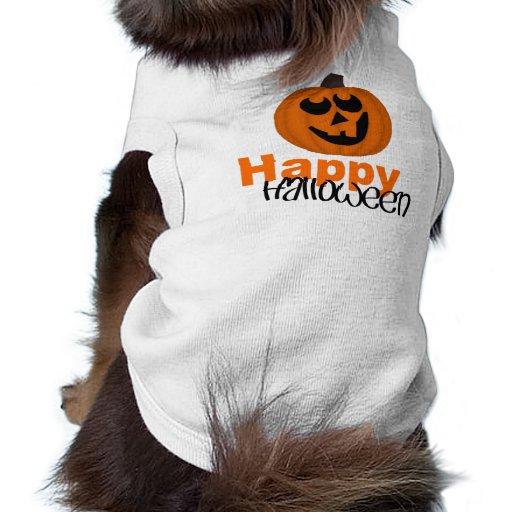 Happy Halloween Doggie Ribbed Tank Top Doggie Tee Shirt