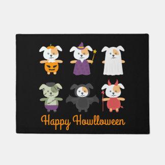 Happy Halloween Doormat for Dog Lovers Howlloween