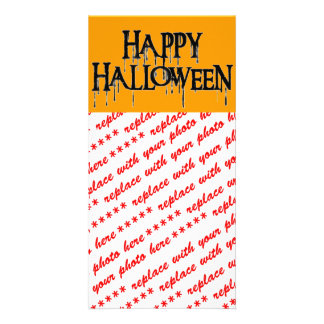 Happy Halloween Drippy Text Image Photo Greeting Card