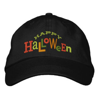 Happy Halloween Eclectic Halloween Embroidery Hat Embroidered Hat