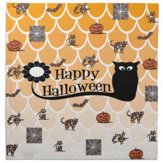 Happy Halloween emoji Napkin