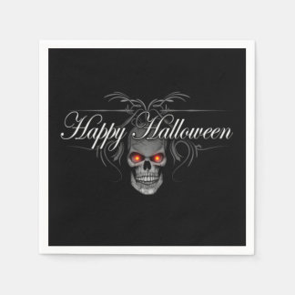 Happy Halloween Evil Skull Disposable Serviette