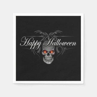 Happy Halloween Evil Skull Paper Napkin