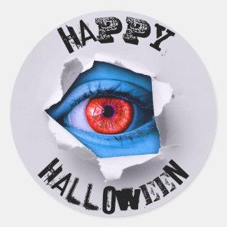 Happy Halloween Eye Ball Peeking Stickers