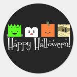Happy Halloween Faces Round Sticker