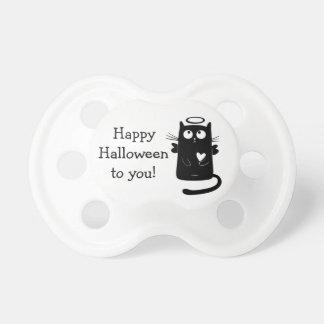Happy Halloween Fairy Cat Heart  Pacifier