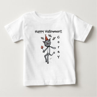 Happy Halloween Festive Black Cat Baby T shirt
