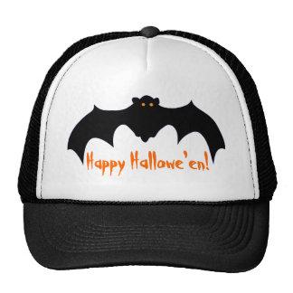 Happy Hallowe'en Flying Bat Trucker Hat
