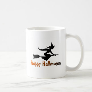 Happy Halloween Flying Witch Mugs