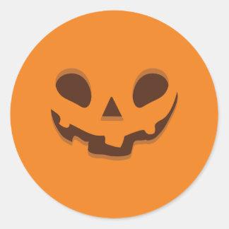 Happy Halloween. Freaky Jack O' Lantern. Classic Round Sticker