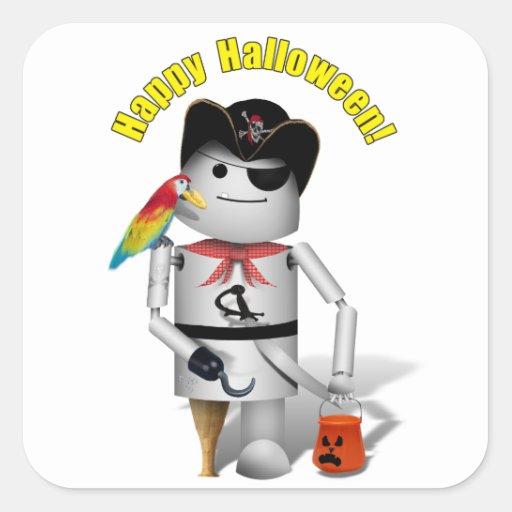 Happy Halloween from Capt. Robo+x9 Stickers