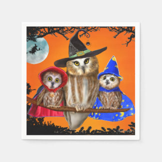 HAPPY HALLOWEEN FROM OWL OF US! PAPER NAPKIN