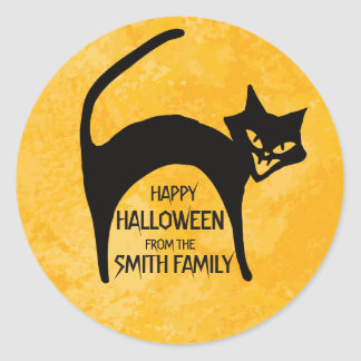 Happy Halloween From The Family. Classic Round Sticker