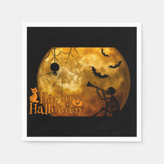 Happy Halloween Full Moon Disposable Serviettes