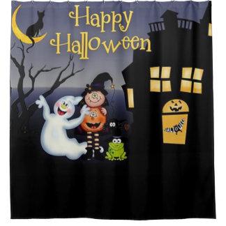 Happy Halloween Fun Spooky Friends Shower Curtain