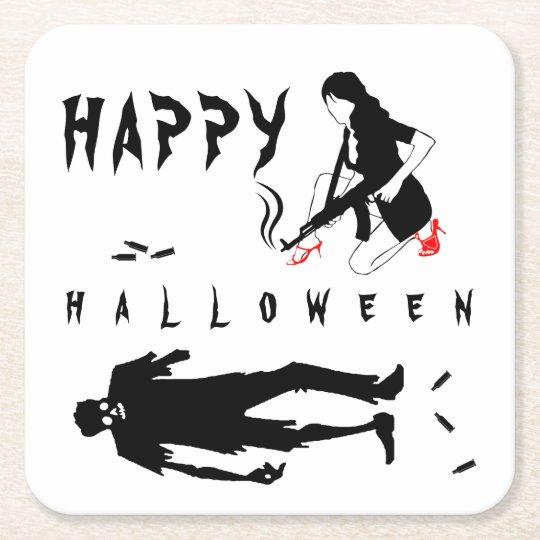 Happy Halloween Funny chic and unique custom Square
