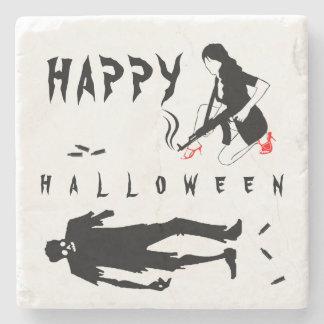 Happy Halloween Funny chic and unique custom Stone Coaster
