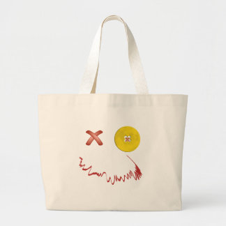 Happy Halloween Funny Face Canvas Bags