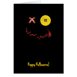 Happy Halloween Funny Face Card