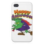 happy halloween funny frankenstein cartoon cover for iPhone 4