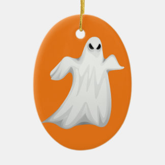 Happy Halloween Ghost Christmas Ornament