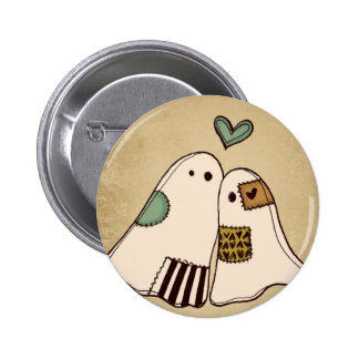 happy halloween ghosts 6 cm round badge