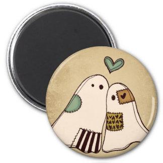 happy halloween ghosts 6 cm round magnet