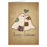 happy halloween ghosts card