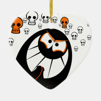 Happy Halloween Ghosts Christmas Ornament