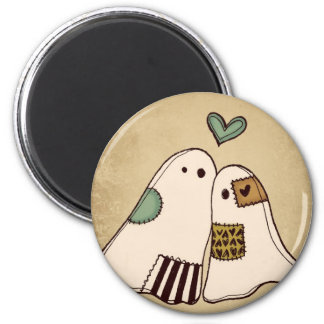happy halloween ghosts magnet