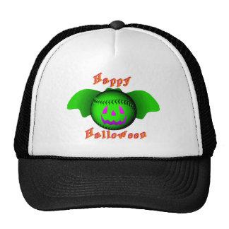 Happy Halloween Green Baseball Bat Cap
