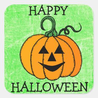 Happy Halloween Green Pumpkin Sticker