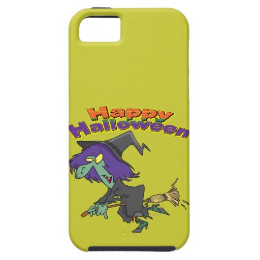 happy halloween green witch cartoon iPhone 5 cover