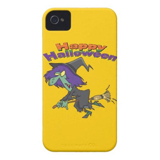 happy halloween green witch cartoon blackberry bold case