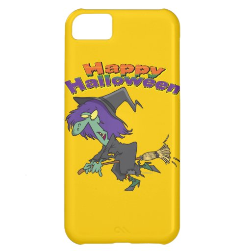 happy halloween green witch cartoon case for iPhone 5C