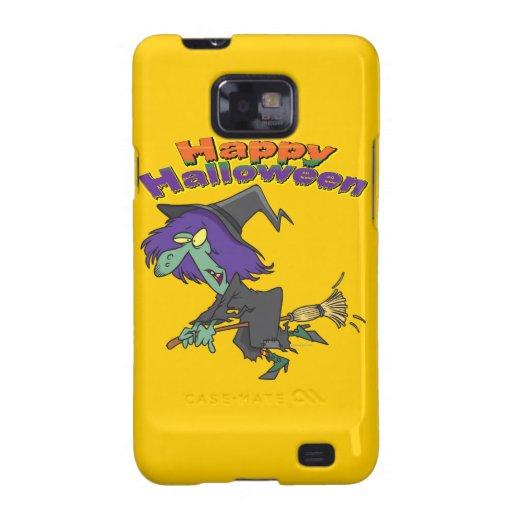 happy halloween green witch cartoon samsung galaxy cover