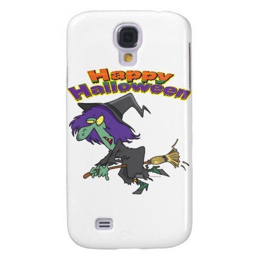 happy halloween green witch cartoon samsung galaxy s4 cover