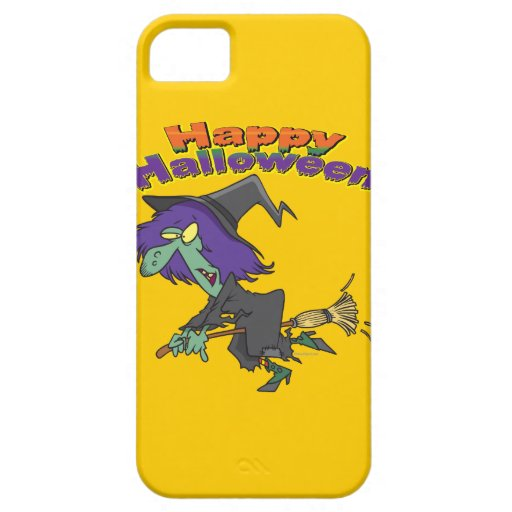 happy halloween green witch cartoon iPhone 5 covers