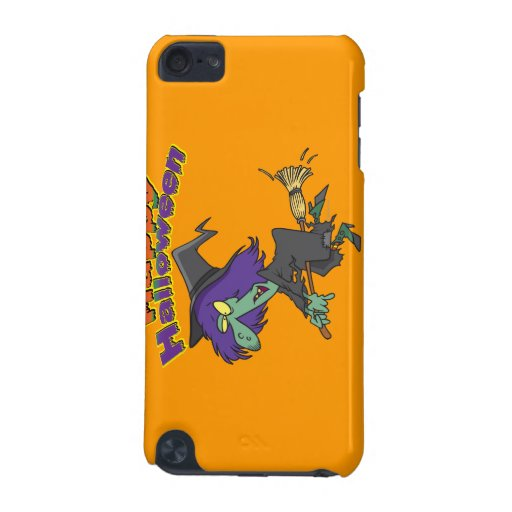 happy halloween green witch cartoon iPod touch (5th generation) covers