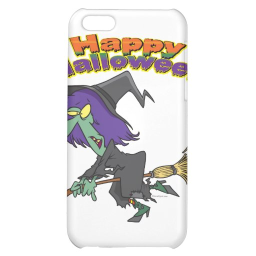 happy halloween green witch cartoon iPhone 5C cover