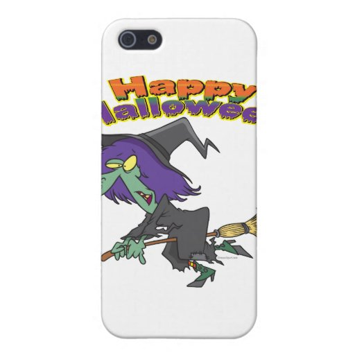 happy halloween green witch cartoon cases for iPhone 5
