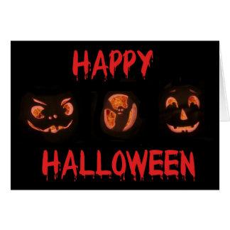 Happy Halloween Greetings card