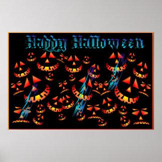 Happy Halloween Grinning Pumpkins.. Poster