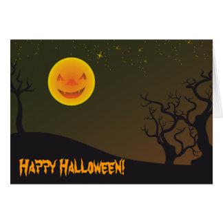 Happy Halloween Happy Moon Greeting Card