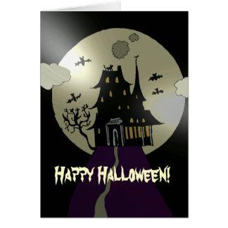 Happy Halloween  Haunted House Greeting Card
