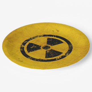 Happy Halloween Hazard Radiation Warning Paper Plate