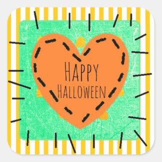 Happy Halloween Heart Cute Patch Stickers