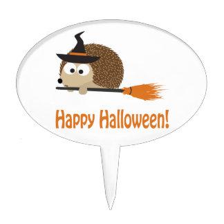 Happy Halloween! Hedgehog Witch Cake Pick
