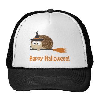 Happy Halloween! Hedgehog Witch Trucker Hat